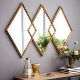 west elm Overlapping Diamonds Mirror