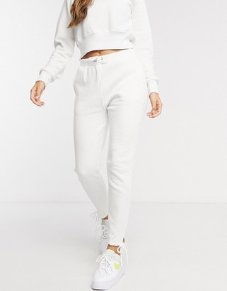 South Beach slim fit trackie in white
