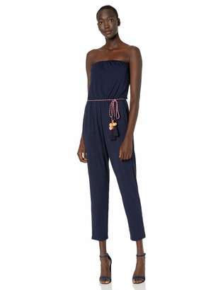 Trina Turk Women's South Shore Strapless Belted Jumpsuit