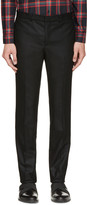 Givenchy Black Flannel Pleated Trousers