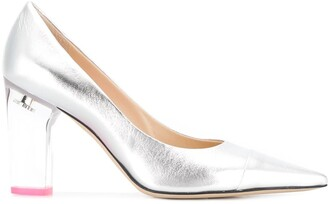 Jimmy Choo x YK Jeong clear heel pumps