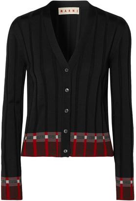 Marni Ribbed Wool-blend Cardigan