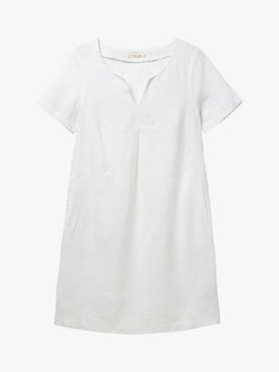 White Stuff Ondine Linen Shift Dress, White