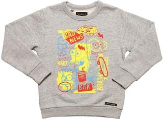 Finger In The Nose Pop Bart Hooded Cotton Sweatshirt