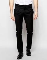 Antony Morato Suit Trousers With Stretch In Super Slim Fit
