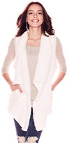 New York & Co. Asymmetrical-Hem Faux-Fur Vest