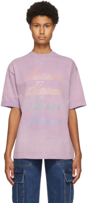 we11done Purple Hand-Bleached T-Shirt