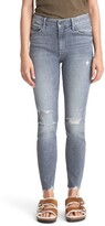 Mother The Looker High Waist Nick Fray Ankle Skinny Jeans