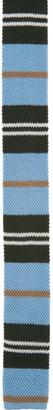 Burberry Blue Striped Knit Tie