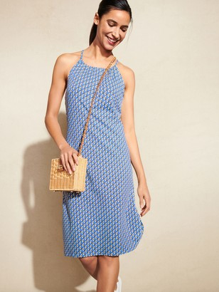 J.Mclaughlin Maria Halter Dress in Saddle Geo