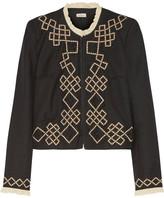 Talitha - Talia Embellished Appliquéd Wool-twill Jacket - Black