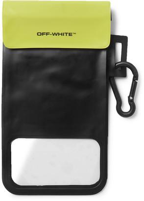 Off-White Waterproof Logo-Print Vinyl Phone Case
