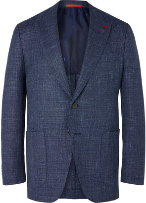 Isaia Wool, Silk And Linen-Blend Blazer