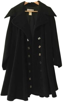 Karl Lagerfeld Paris Black Wool Coat for Women Vintage