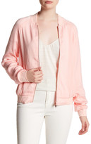 Lucca Couture Washed Satin Bomber Jacket