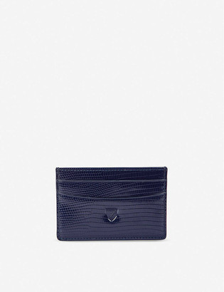 Aspinal of London Lizard-embossed leather credit card holder