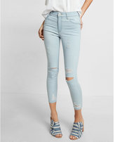 Express High Waisted Distressed Cropped Legging