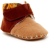 Toms Tiny Cuna Faux Shearling Suede Felt Shoe (Baby)