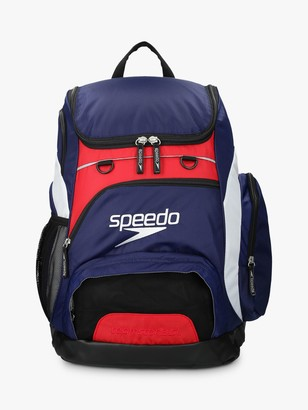 Speedo Teamster Swim Backpack, Navy/Red/White