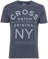 Crosshatch Men's Laramie T-Shirt - Navy Marl
