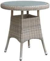 Oseasons Eden rattan 2 seater bistro table in chic walnut
