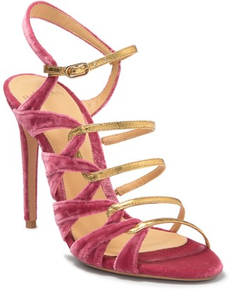 Alexandre Birman Nolita Genuine Snakeskin Velvet Stiletto Sandal