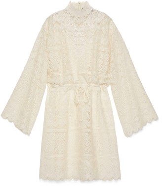 Gucci GG lace dress with drawstring