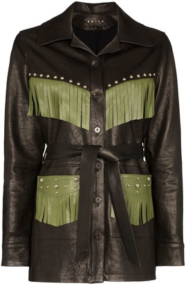 Billy fringed trim jacket