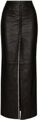 Saint Laurent Crystal-Embellished Maxi Skirt