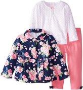 Little Me Baby Girls' 3 Piece Jacket Set