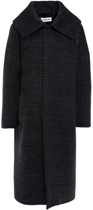 Balenciaga Oversized Checked Wool-blend Felt Coat