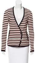 Veronica Beard Striped Casual Jacket