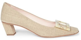 Roger Vivier Belle Vivier Canvas Pumps
