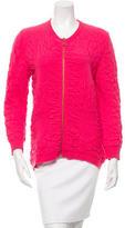 McQ by Alexander McQueen Long-Sleeve Wool Zip-Up Sweater