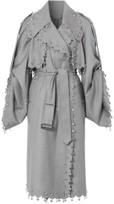 Burberry Pierced Wool Wrap Coat