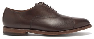 O'Keeffe's Okeeffe - Leather Oxford Shoes - Mens - Dark Brown