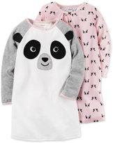 Carter's 2-Pk. Panda Nightgowns Set, Little Girls (4-6X) & Big Girls (7-16)