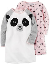 Carter's 2-Pk. Panda Nightgowns Set, Toddler Girls (2T-5T)