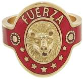 Foundrae Strength Red Champlevé Enamel Cigar Band