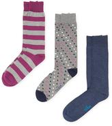 The Tie Bar Dot and Stripe Socks (3 PK)
