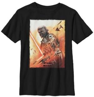 Star Wars Big Boys Kylo Ren Lightsaber Poster Short Sleeve T-Shirt