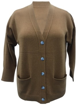 Karen Scott Plus Size Boyfriend Cardigan, Created for Macy's