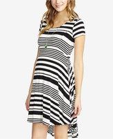 Jessica Simpson Maternity Striped High-Low Dress