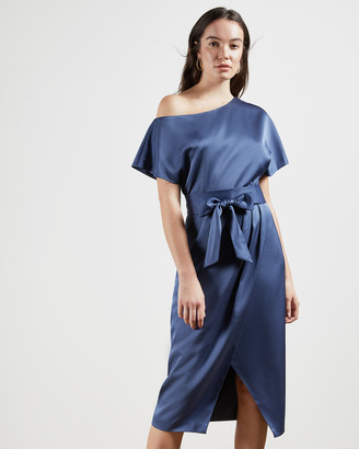 Ted Baker WILLAA Off shoulder wrap dress