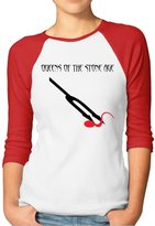 GWJEP Queens Of The Stone Age Songs For The Deaf Girls 3/4 Sleeve Raglan Tee Shirts Cotton