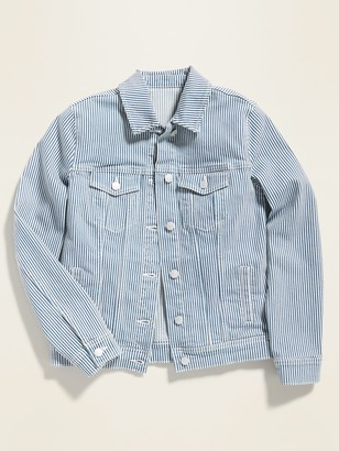Old Navy Railroad-Stripe Jean Jacket for Women