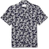 Sandro - Camp-collar Jacquard Shirt