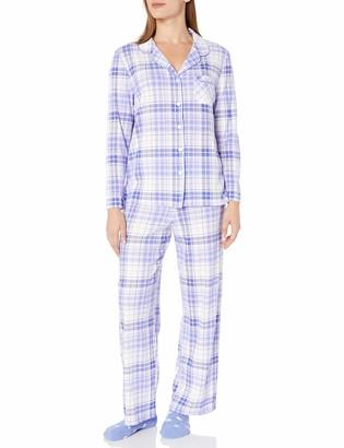 Karen Neuburger Women's Plus Size Long-Sleeve Stripe Girlfriend Pajama Set PJ