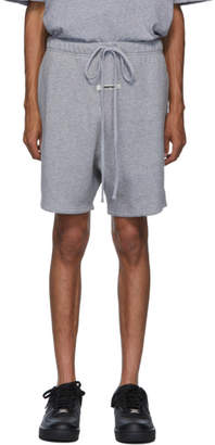 Essentials Grey Reflective Logo Sweat Shorts