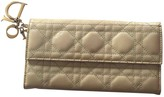 Christian Dior Lady Beige Patent leather Wallets